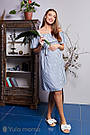 Сарафан для беременных и кормящих из вискозного шамбре Юла Мама ChloeSF-29.052 S, фото 7