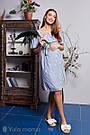 Сарафан для вагітних та годуючих з віскозного шамбр Юла Мама ChloeSF-29.052 S, фото 7