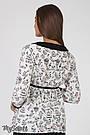 """Блузка для беременных из стрейчевой ткани с принтом """"птички"""" черно-белый Юла Мама Meriot (S-XL), фото 4"""