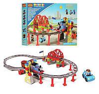 Железная дорога-конструктор JIXIN 8288D Паровозик Томас (аналог конструктора LEGO Duplo), 56 деталей