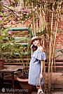 Сарафан для беременных и кормящих из вискозного шамбре Юла Мама ChloeSF-29.051 S, фото 7
