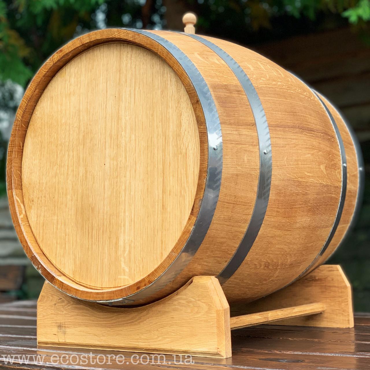 Дубовая бочка 70л (без крана) для вина, коньяка, виски