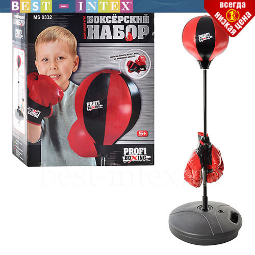 Боксерский набор MS 0332  (диаметр 25 см) перчатки и боксерская груша