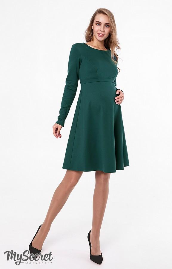 Теплое платье для беременных и кормления Юла Мама. Нарядное/повседневное. Модель - Lianna warm DR-48.162 S