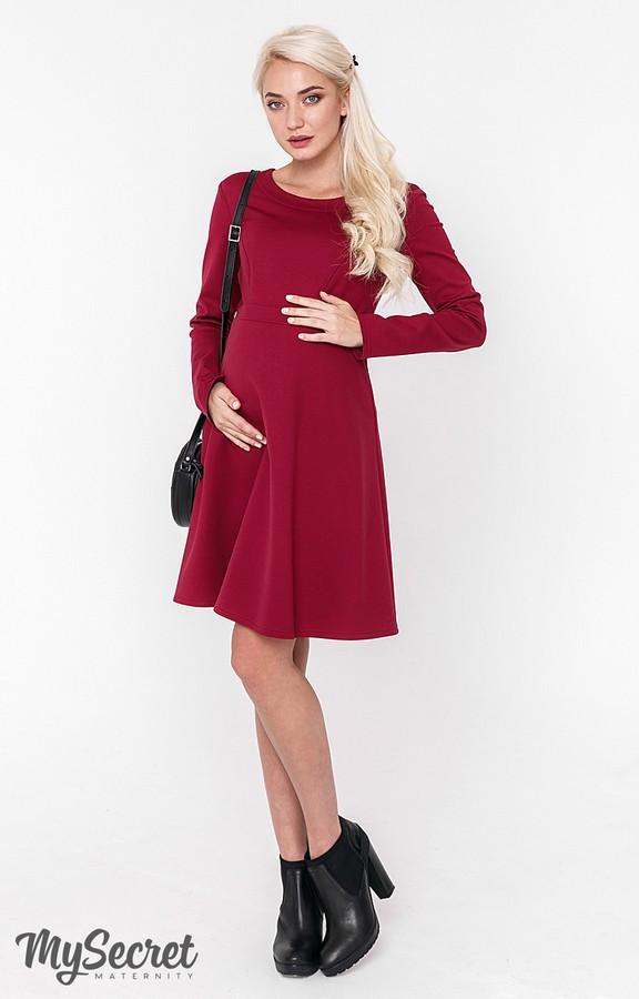 Платье для беременных и кормления Юла Мама теплое. Трикотаж с начесом. Модель - Lianna warm DR-48.161 S