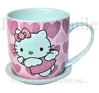 Кружка с блюдцем Hello Kitty