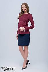 Спідниця для вагітних пряма до середини коліна Юла Мама Alma SK-S 38.012