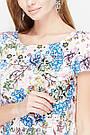 Блузка для беременных и кормящих свободная белая с цветами Юла Мама Remy (XS-XL), фото 3