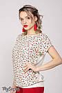Блузка для кормящих в стиле оверсайз с бордовыми цветочками Юла Мама Mirra (S-XL), фото 5
