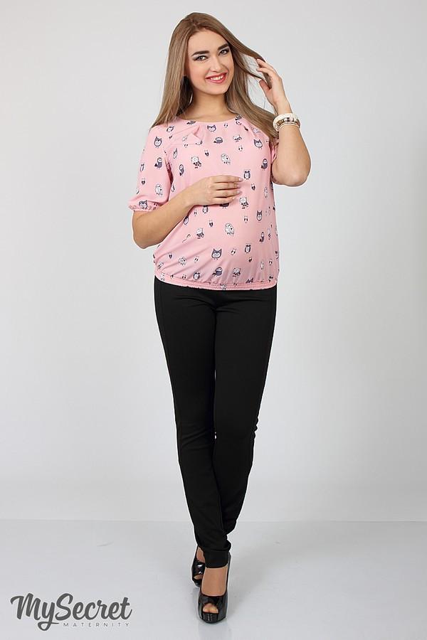 Брюки для беременных черные с бандажным поясом трикотажные Vogue light Юла Мама (S-XL)