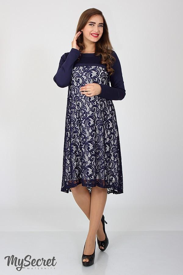 Нарядное платье для беременных и кормящих Юла Мама. Удобный секрет для кормления. Модель - Loren DR-36.062 S