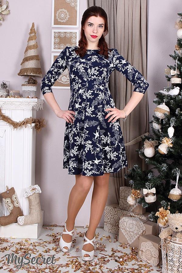 Нарядное платье для беременных с секретом для кормления Юла Мама. Perseya DR-36.291 xL