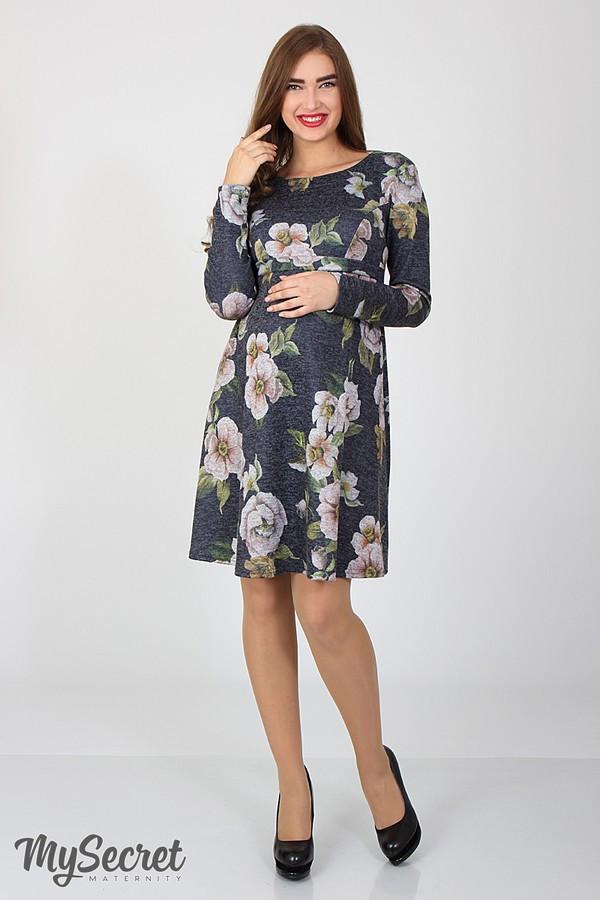 Платье для беременных и кормления с цветами Юла Мама повседневное/нарядное. Модель - Lianna DR-36.281 xL