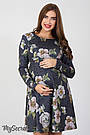 Платье для беременных и кормления с цветами Юла Мама повседневное/нарядное. Модель - Lianna DR-36.281 xL, фото 2