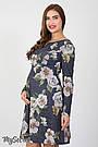 Платье для беременных и кормления с цветами Юла Мама повседневное/нарядное. Модель - Lianna DR-36.281 xL, фото 4