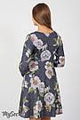 Платье для беременных и кормления с цветами Юла Мама повседневное/нарядное. Модель - Lianna DR-36.281 xL, фото 5