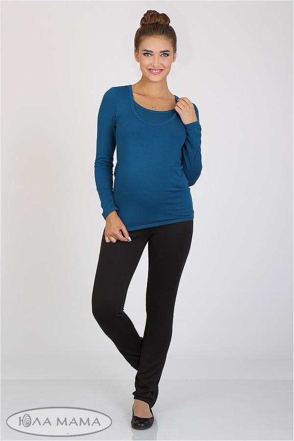 Брюки-лосины для беременных черные с бандажным поясом трикотажные Sinta Юла Мама (S-XL)