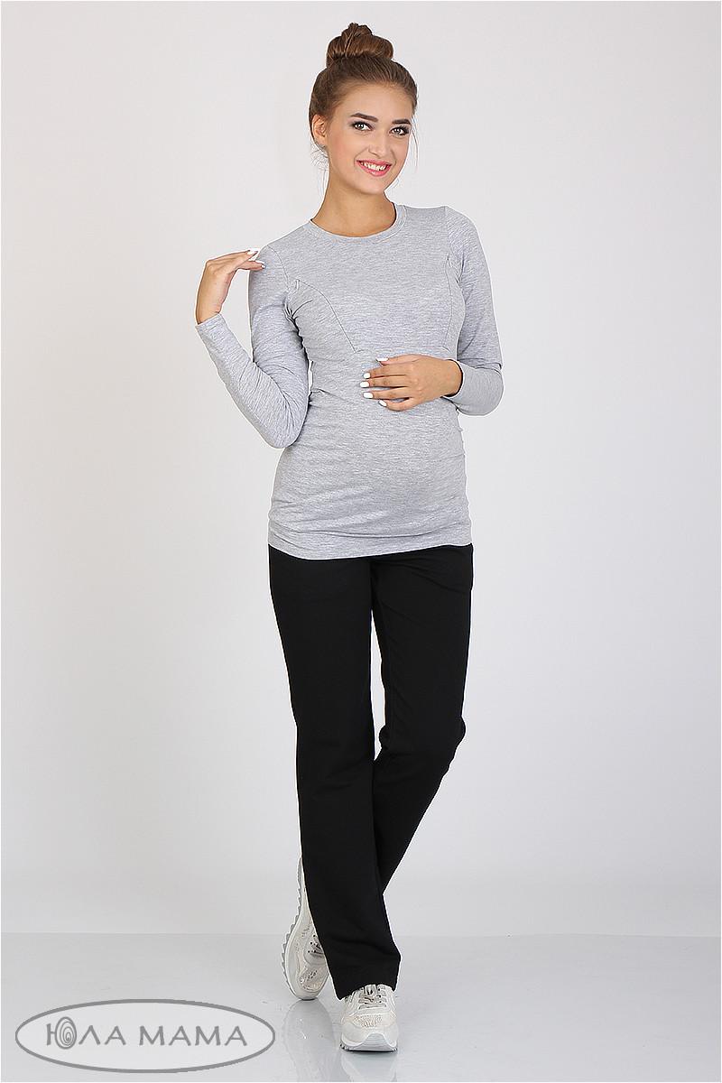 Спортивные брюки для беременных черные с бандажным поясом трикотажные Alice Юла Мама (S-XL)
