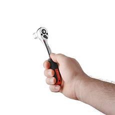 "Рукоятка с храповым механизмом на 72 зуба 1/4"", Cr-V STORM INTERTOOL ET-8001, фото 2"