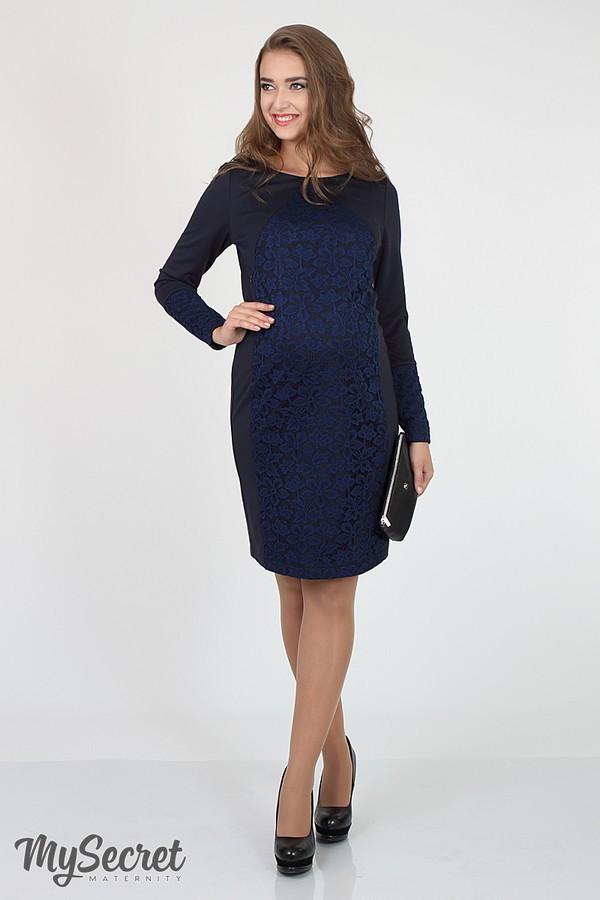 👗 Платье для беременных и кормящих в обтяжку Юла Мама повседневное. Модель - Alen DR-36.102 S