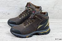 Мужские кожаные зимние ботинки/кроссовки (Код: Б-7 кор  ) ►Размеры [40,41,42,43,44,45], фото 1