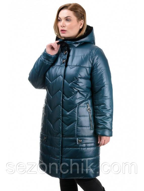 Модные зимние женские куртки стёганные