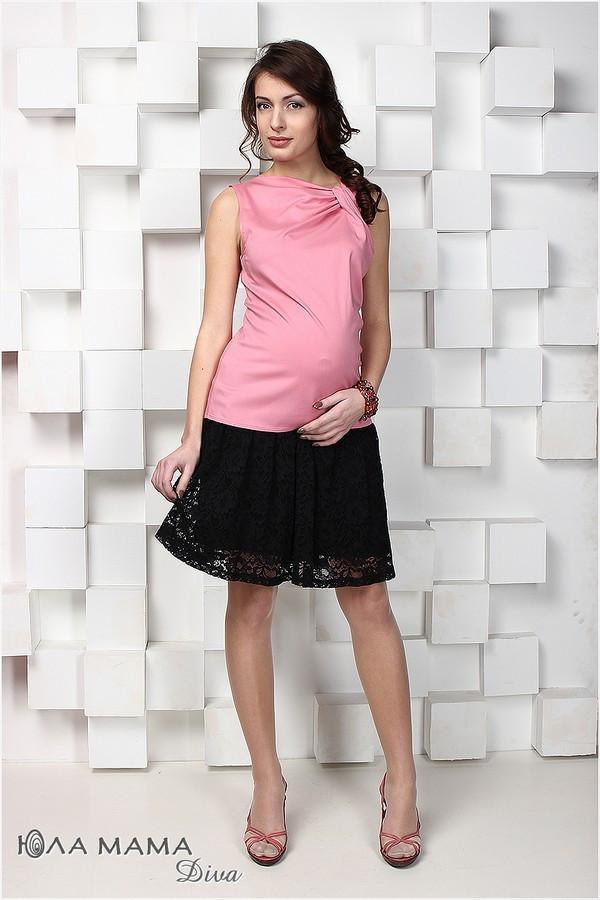 Юбка для беременных черная из гипюра Юла Мама Hilary S15-3.15.1 S