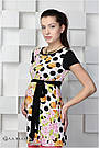 Платье-туника для беременных трикотажная с принтом монеты с сакурой Юла Мама Sesily top (S,M), фото 2