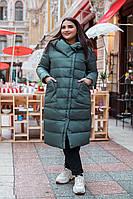 Куртка длинная   женская батал  Барбара, фото 1