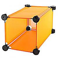 Полка для вещей Трасформер E04736 ПВХ, 18,5х18,5х35,5 см, шкаф, шкаф трансформер, полки, шкаф разборной, тумбы под обувь, мебель для прихожей