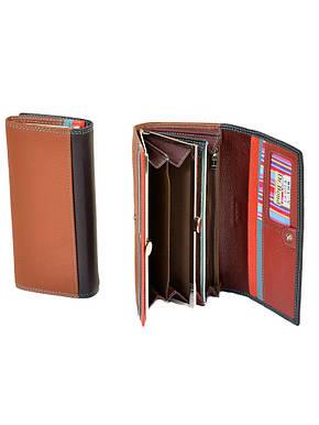 Стильный фиолетовый кожаный женский кошелёк Rainbow DR. BOND(18.5*9*4 см), WR1-V violet, фото 2