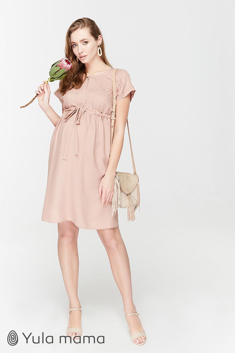 👗 Вільне плаття для вагітних з секретом для годування Юла Мама. Модель - Rossa DR-29.052 xS