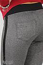 Брюки-лосины для беременных серые замшевые с бандажным поясом Blank Юла Мама (S-XL), фото 5