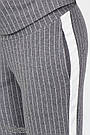 Брюки для беременных с бандажным поясом трикотажные серые в полоску Юла Мама Crayon S21 (S-XL), фото 6