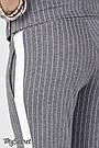 Брюки для беременных с бандажным поясом трикотажные серые в полоску Юла Мама Crayon S21 (S-XL), фото 7