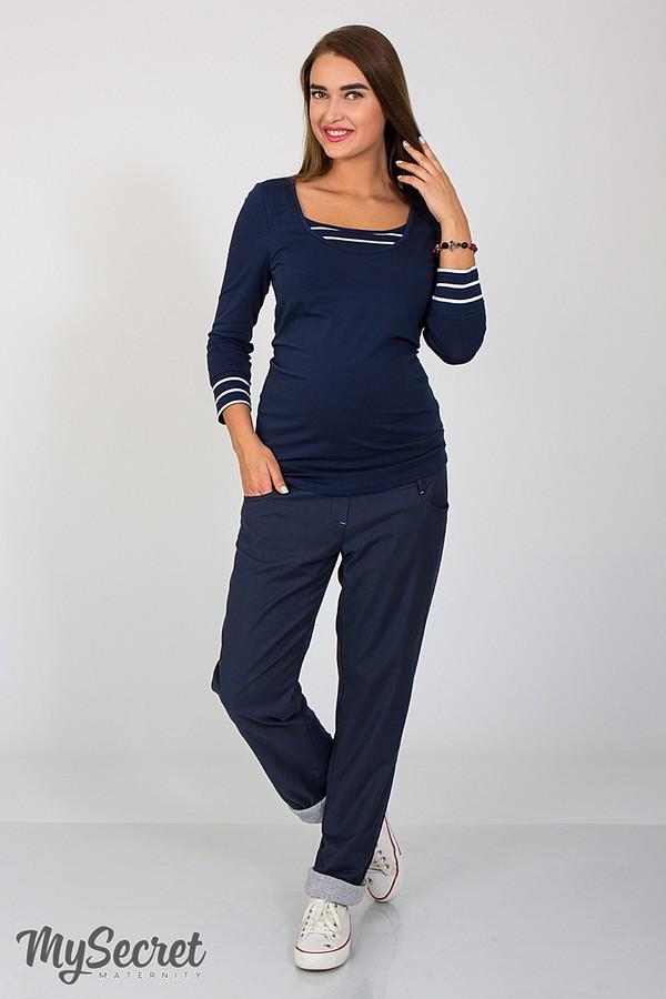 Брюки-бойфренды для беременных с поясом для живота хлопковые Keira Юла Мама (S-XL)