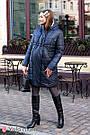 Зимове пальто для вагітних тепле Юла Мама з флісовою підкладкою і вставкою для живота Mariet OW-49.042 S, фото 7