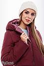 Зимнее пальто для беременных со вставкой теплое марсаловое Angie Юла Мама (S-XL), фото 6