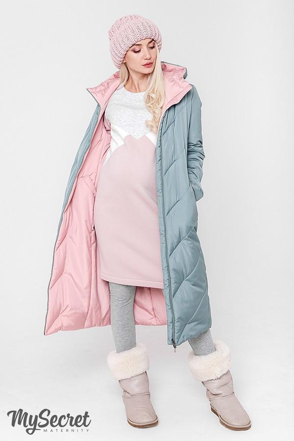 Двухстороннее пальто для беременных зимнее теплое Юла Мама. Со вставкой для животика. Tokyo OW-48.063 L