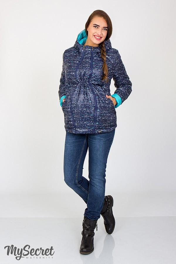 Демисезонная двусторонняя куртка для беременных Юла Мама. Вставка для живота на любой срок. Floyd OW-37.012 S
