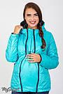 Демисезонная двусторонняя куртка для беременных Юла Мама. Вставка для живота на любой срок. Floyd OW-37.012 S, фото 3