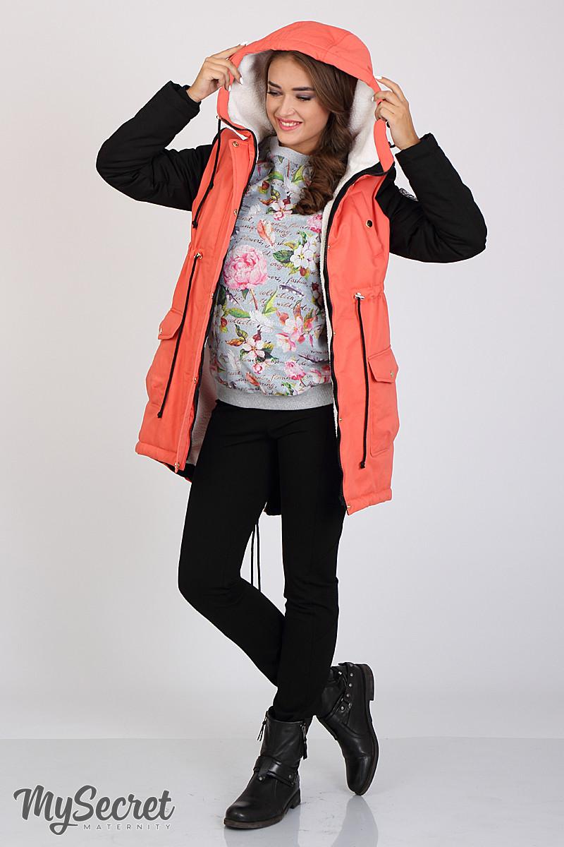 Куртка-парка для беременных с утеплителем и меховой подкладкой Lex Юла Мама