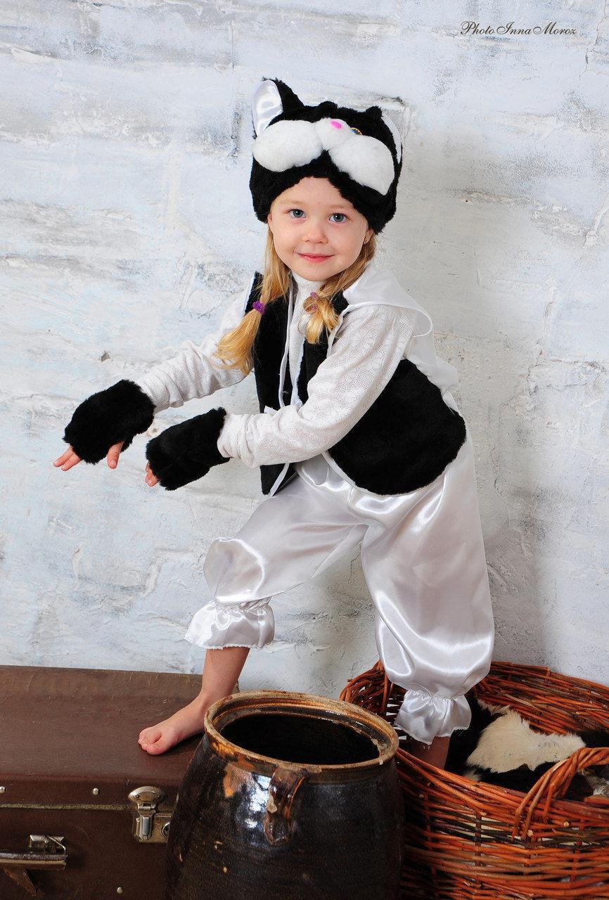 Детский карнавальный костюм Котик, Кот черный