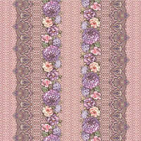 """Клеенка ПВХ в рулоне Stenson """"Хризантема"""" MA-1997 розовый, силикон, 1.37*25 м, Клеенка универсального размера для стола, Клеенка пвх"""