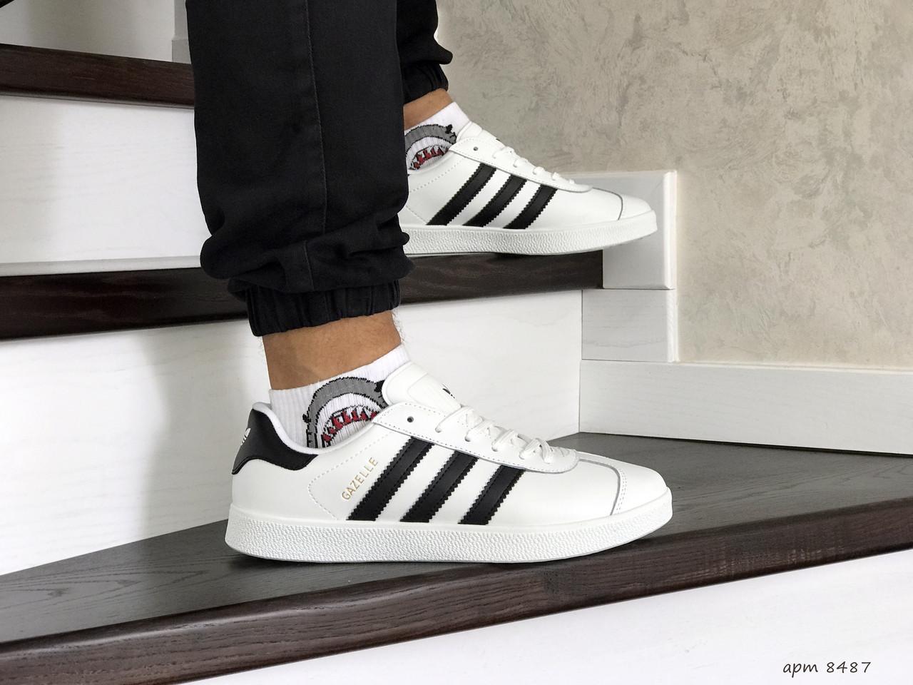Кросівки чоловічі в стилі  Adidas Gazelle  білі   ТОП якість