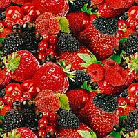"""Клеенка ПВХ в рулоне Stenson """"Rose"""" размер 1,37х25м, на нетканой основе, с принтом фрукты, клеенка в рулонах, скатерти клеенка, клеенка ПВХ"""