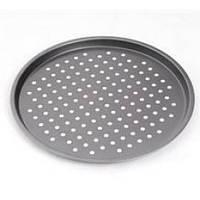 Форма для пиццы с дырочками Stenson размер 33х1,2см, металл, Форма для запекания, Противень
