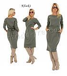 Платье туника модная Меган  95 см с длинным рукавом 42 44 46 48 50 Р, фото 8