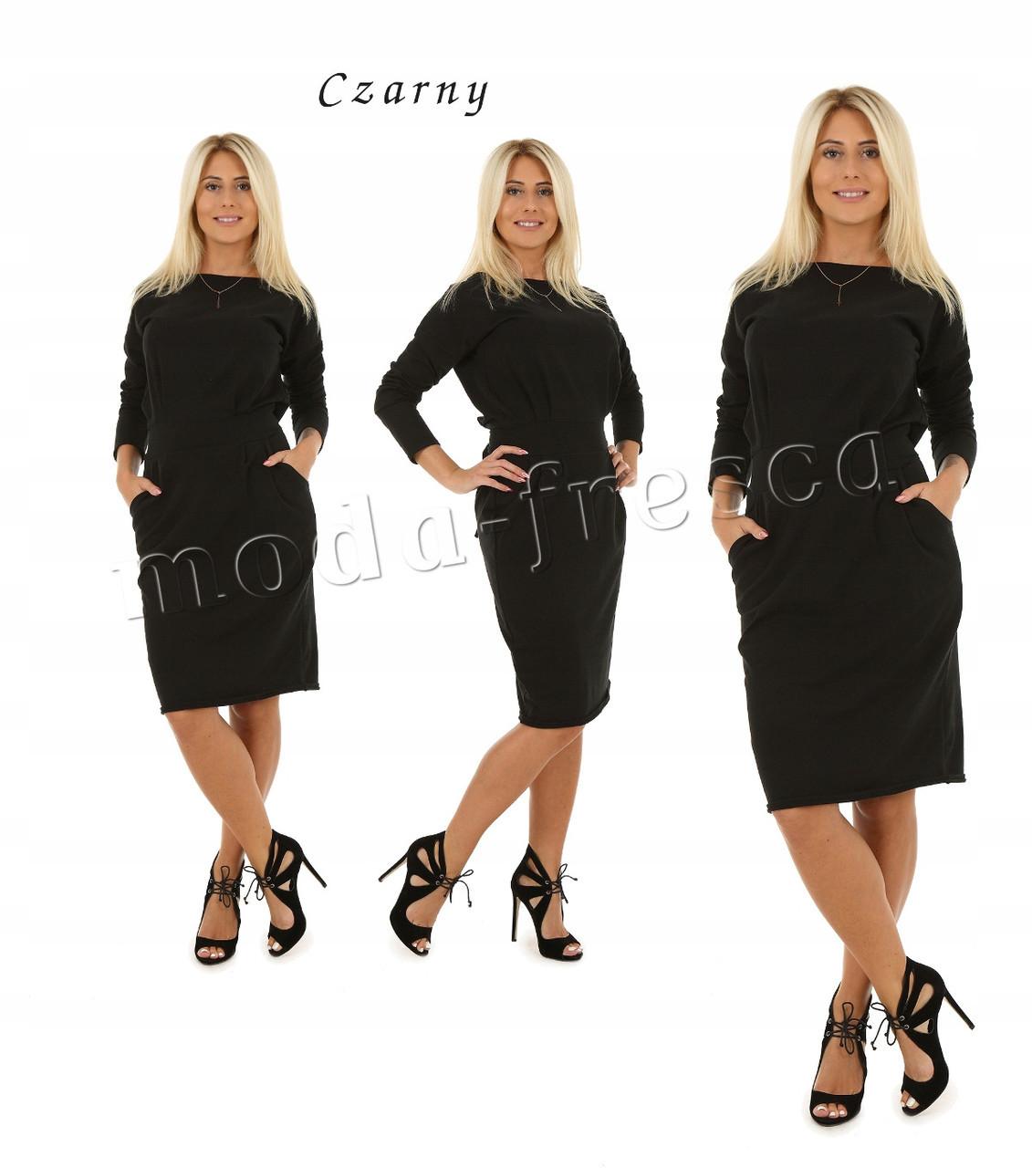 Сукня туніка модна Меган 95 см з довгим рукавом 42 44 46 48 50 Р