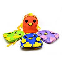"""Рюкзак детский """"Цыпленок"""" размер 26х23х10см, разные цвета, полиэстер, детский рюкзак, рюкзак, рюкзаки школьные, детские рюкзаки и сумки"""